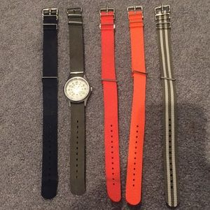 Ladies times watch with 5 bands